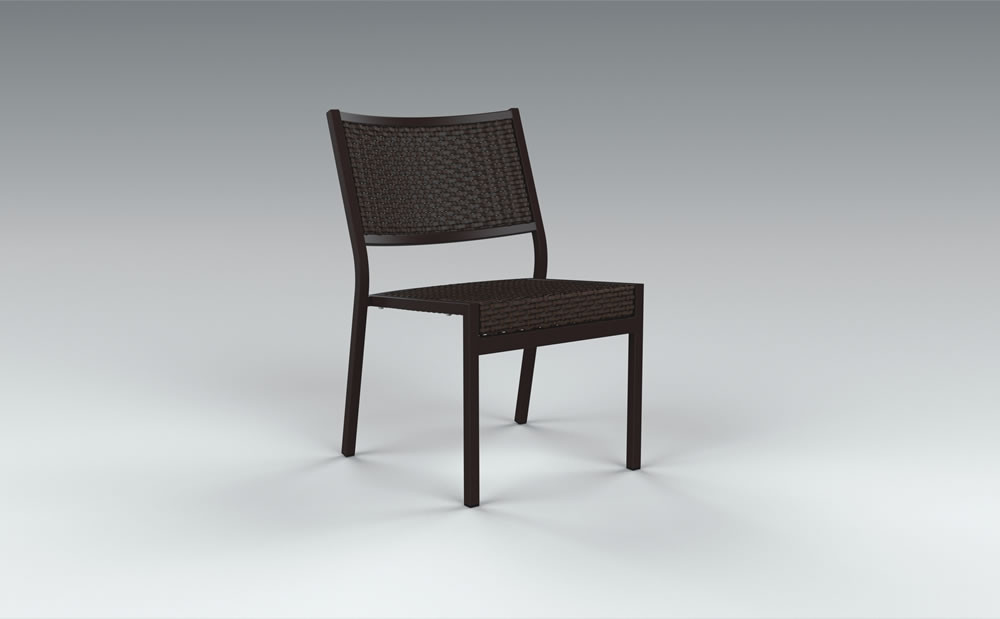 Charmant Tropitone Cabana Club Woven Armless Dining Chair