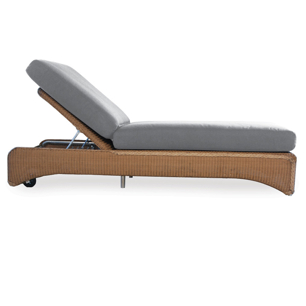 Lloyd flanders wicker pool chaise lounge replacement for Bamboo chaise lounge