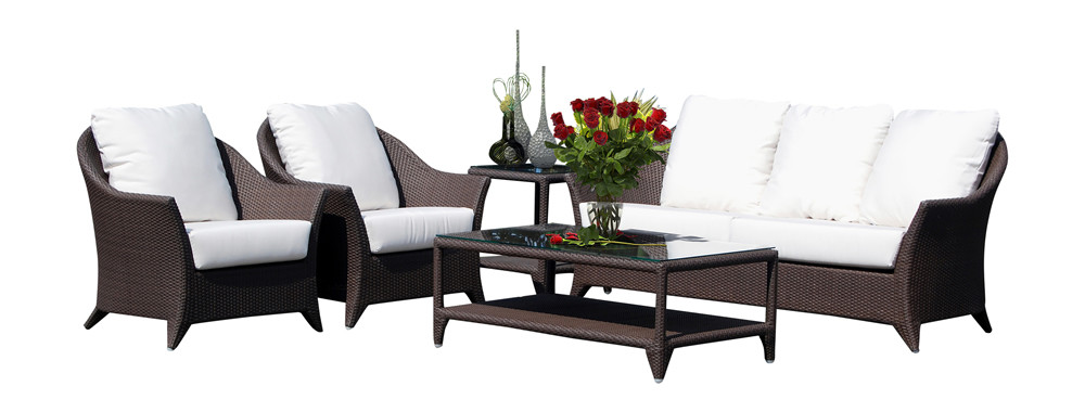 Hospitality rattan kenya 5 piece wicker conversation set for Outdoor furniture kenya