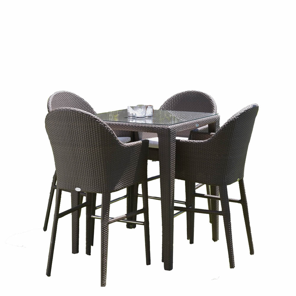 hospitality rattan kenya 5 piece wicker pub set wicker. Black Bedroom Furniture Sets. Home Design Ideas