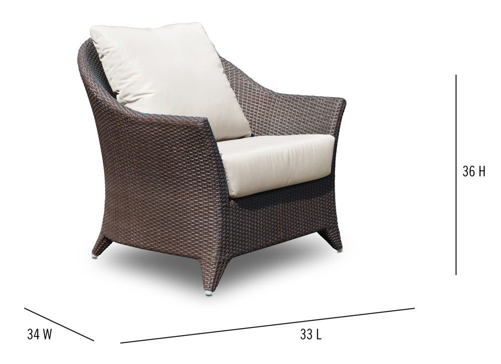 Hospitality Rattan Kenya Wicker Lounge Chair