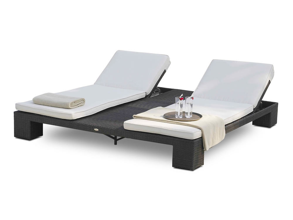 hospitality rattan sydney double wicker chaise lounge. Black Bedroom Furniture Sets. Home Design Ideas