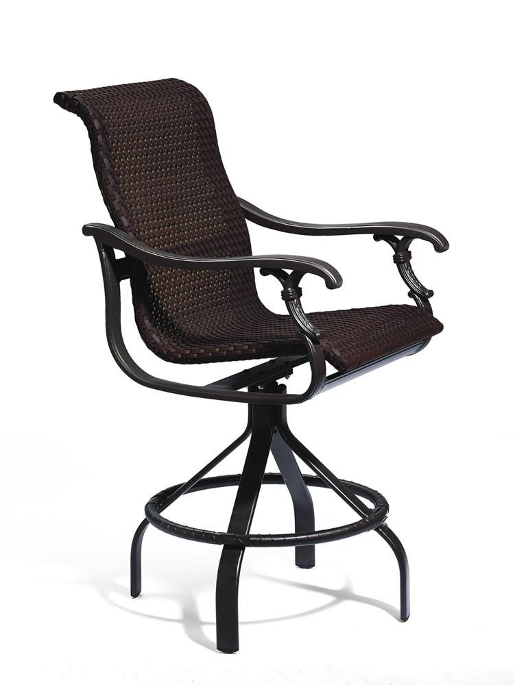 Tropitone Patio Chairs: Tropitone Ravello 28 Wicker Bar Chair