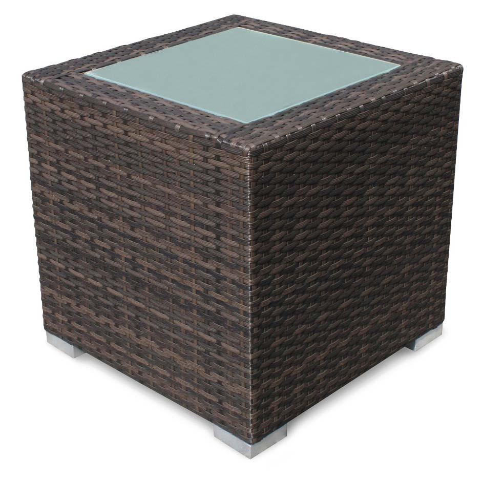 Source outdoor lucaya wicker end table for Outdoor wicker table