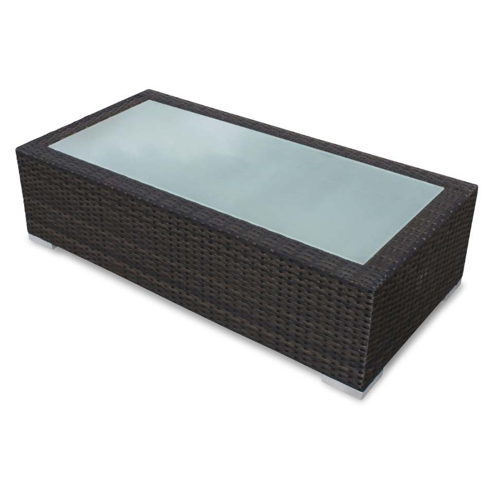 Source outdoor lucaya wicker coffee table for Outdoor wicker table