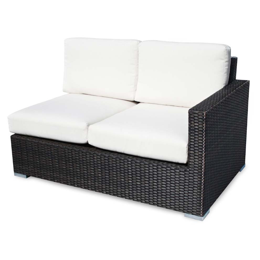 Source Outdoor Lucaya Wicker Right Arm Facing Sectional Loveseat