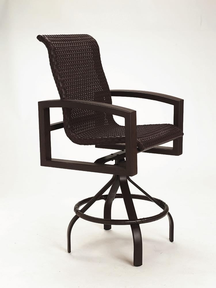 "Tropitone Patio Chairs: Tropitone Lakeside 28"" Wicker Bar Chair"