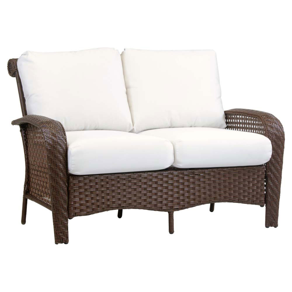 South Sea Rattan Martinique Wicker Loveseat Wicker Sofas Loveseats Wicker Seating