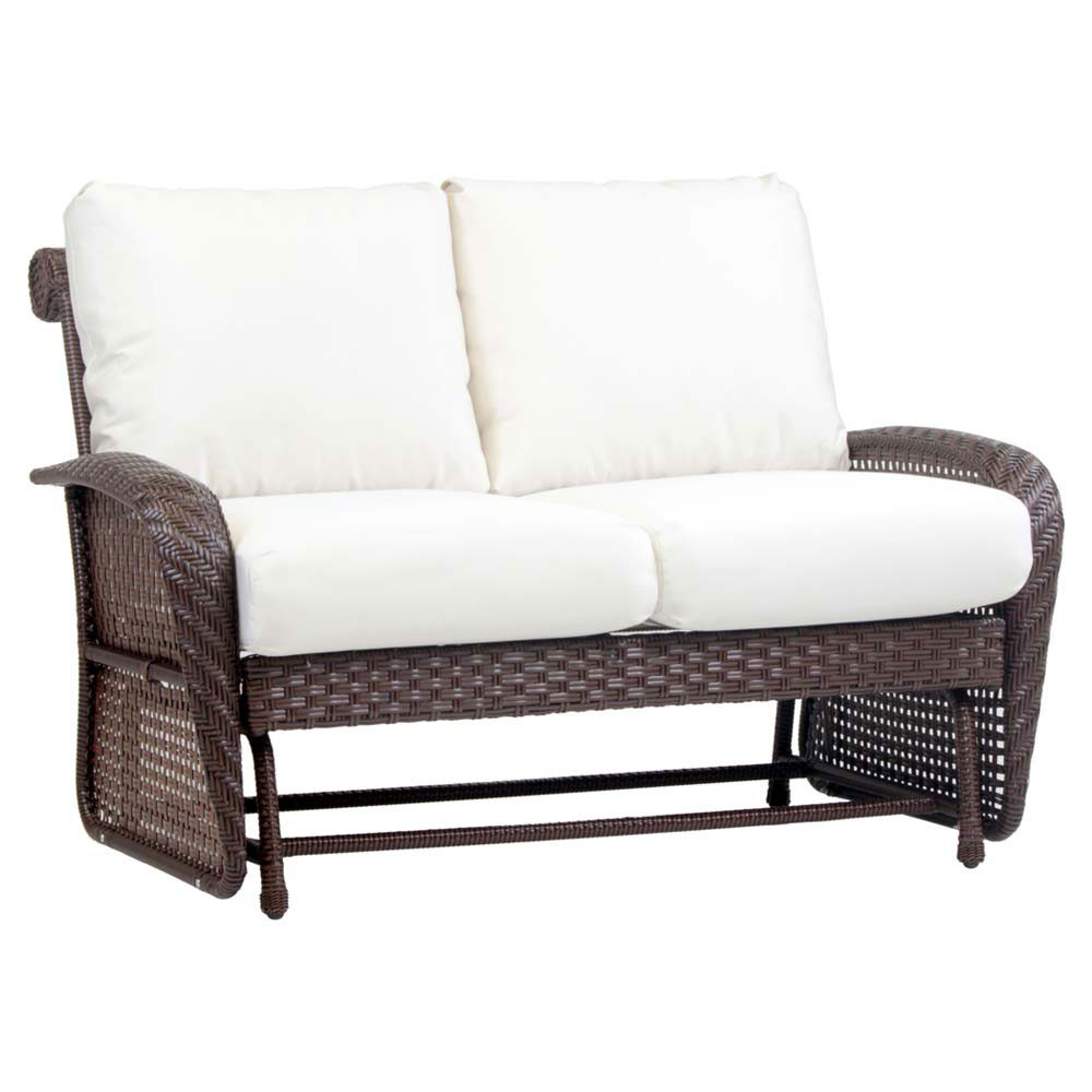 South sea rattan martinique wicker double glider Rattan loveseat