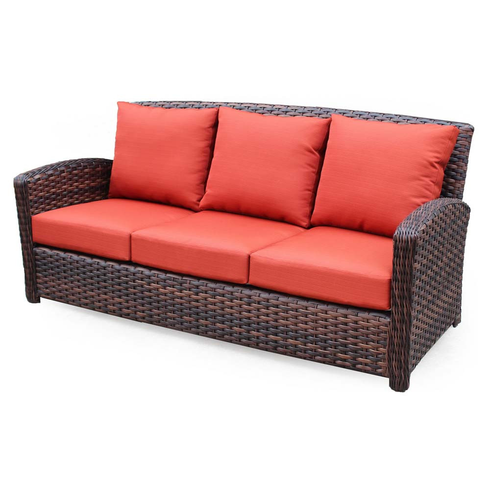 South sea rattan huntington wicker sofa