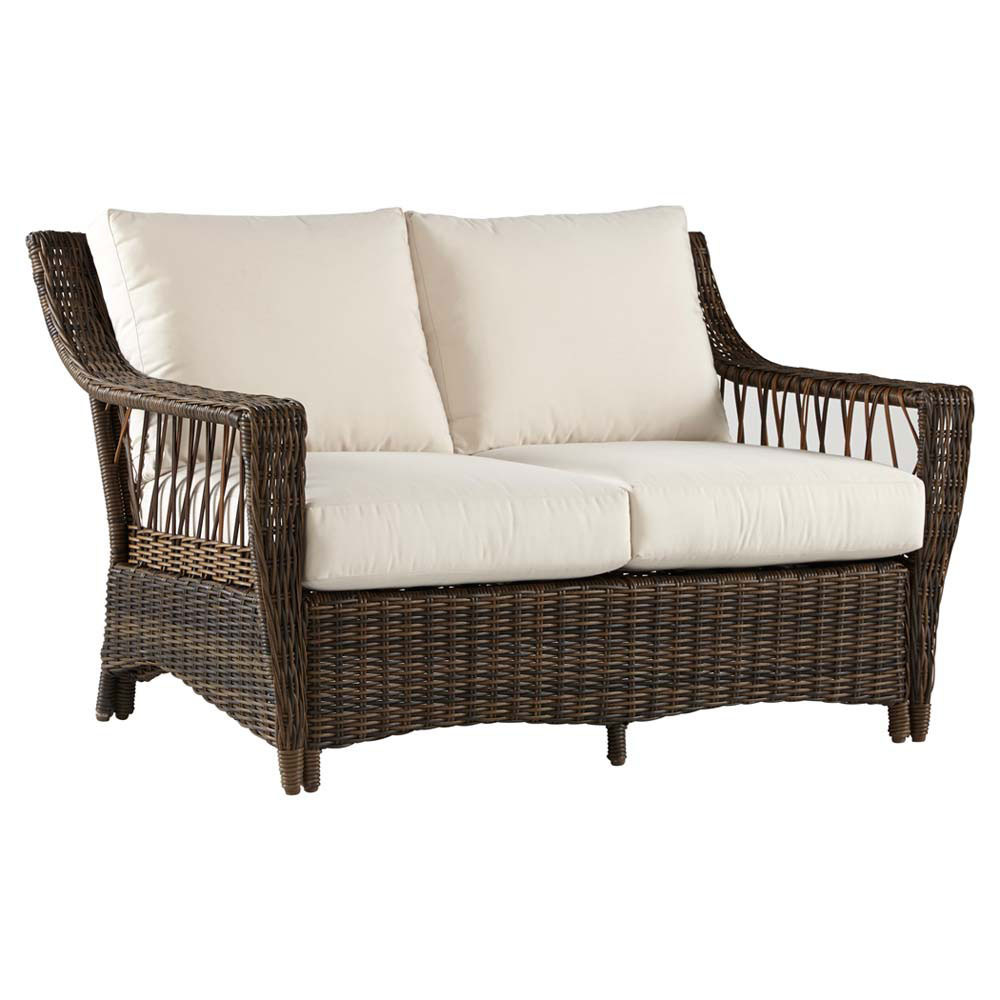 South sea rattan saint john loveseat Rattan loveseat