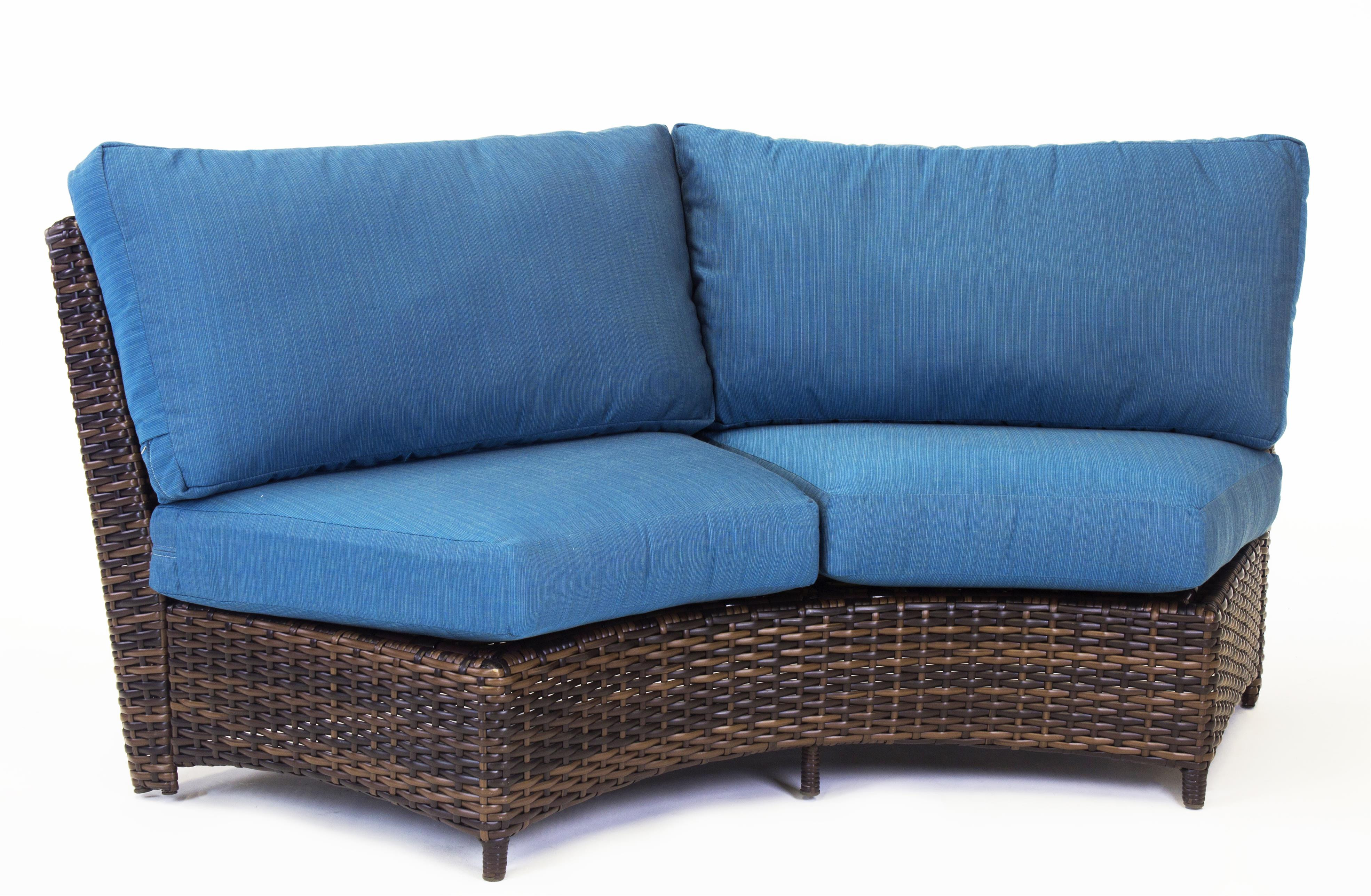 south sea rattan saint tropez wicker curved love seat. Black Bedroom Furniture Sets. Home Design Ideas