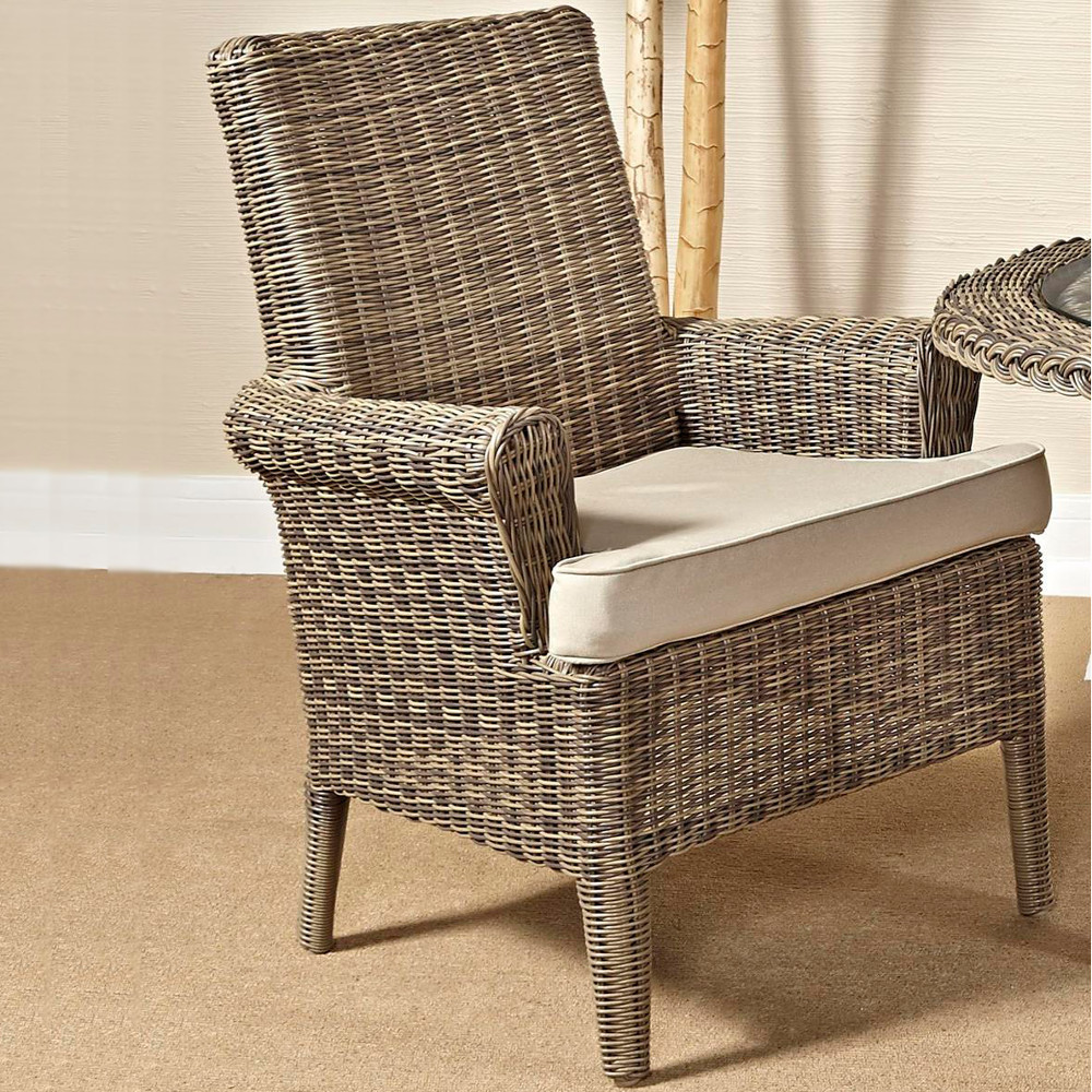 South Sea Rattan Provence Wicker Dining Arm Chair