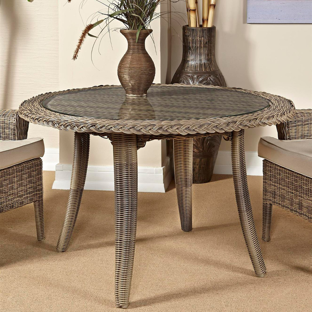 South Sea Rattan Provence Wicker Dining Table Wicker Com