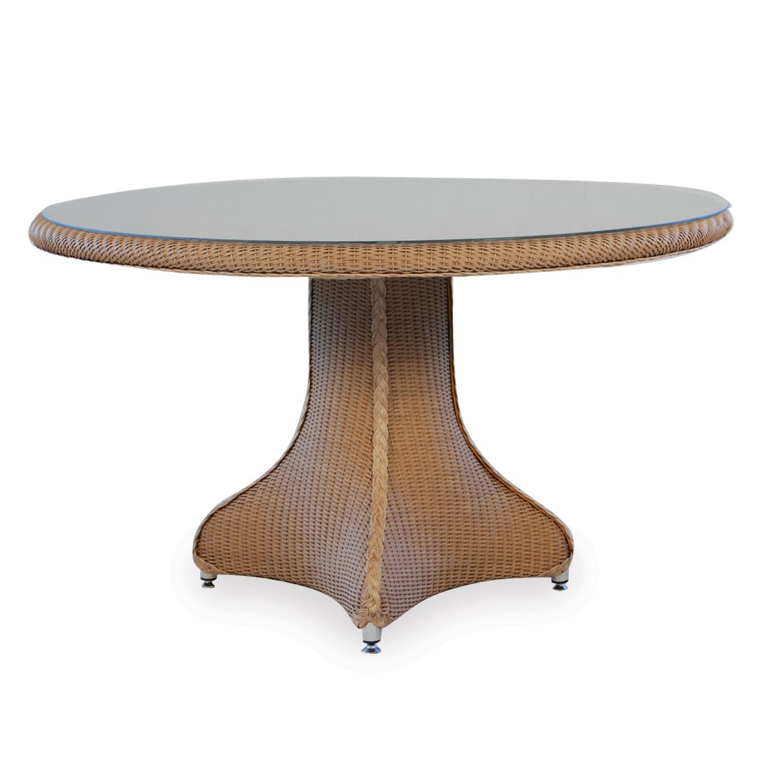 """Round Wicker Dining Table: Lloyd Flanders Wicker 48"""" Dining Table"""