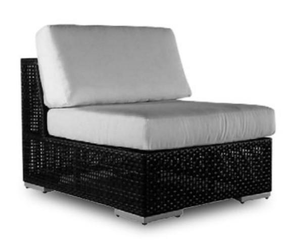 Hospitality Rattan Soho Wicker Armless Lounge Chair