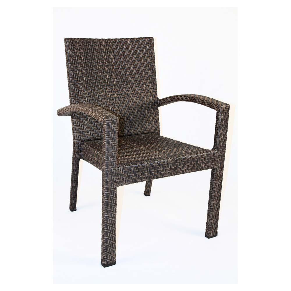 Hospitality Rattan Soho Wicker Dining Arm Chair Wicker