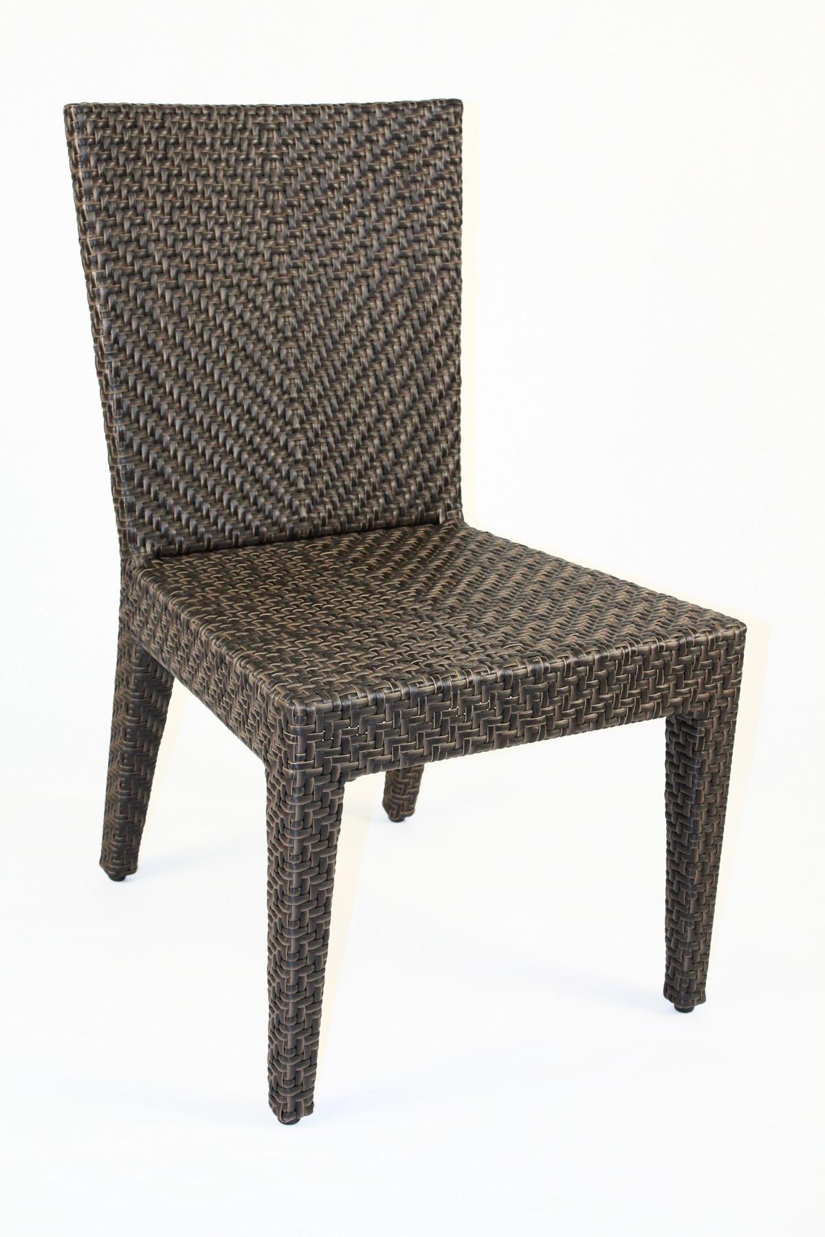 Hospitality rattan soho 3 piece wicker side chair bistro set - Cane bistro chairs ...