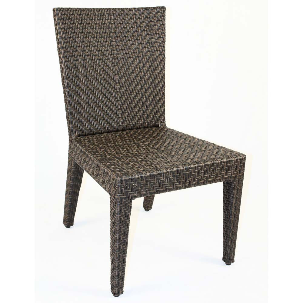 Hospitality rattan soho wicker dining side chair