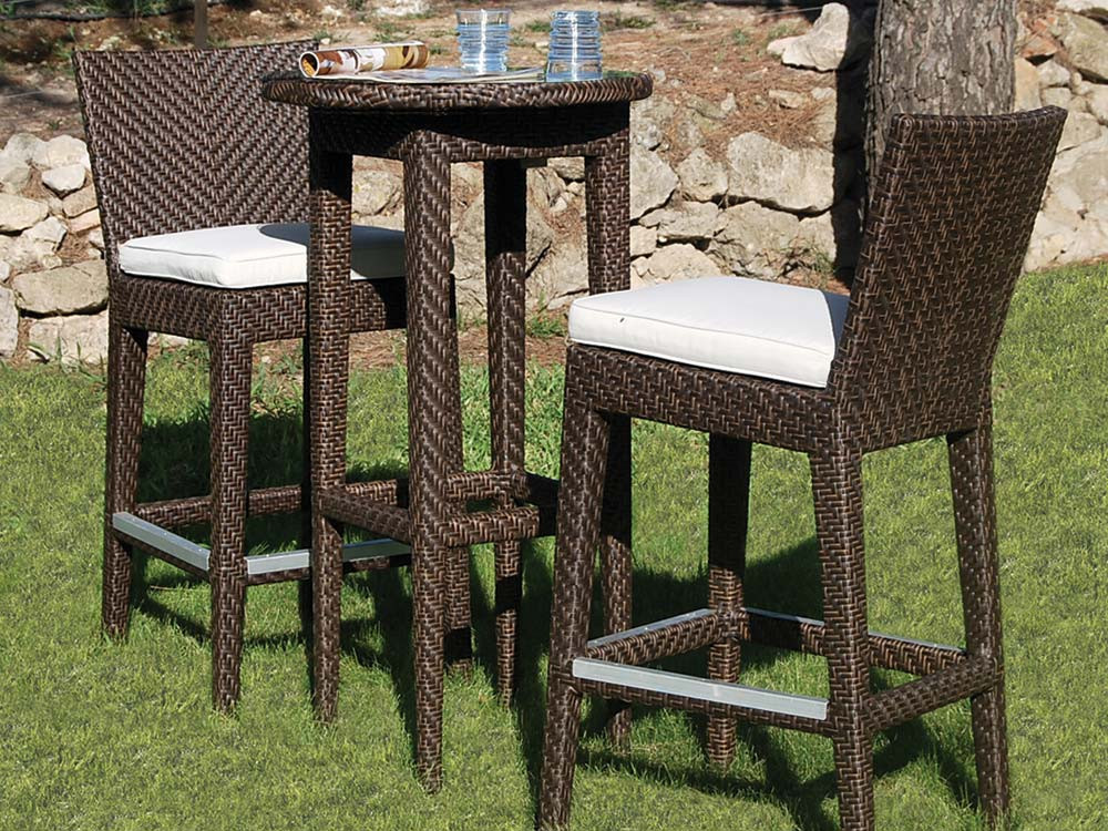 Gentil Hospitality Rattan Soho 3 Piece Wicker Pub Set