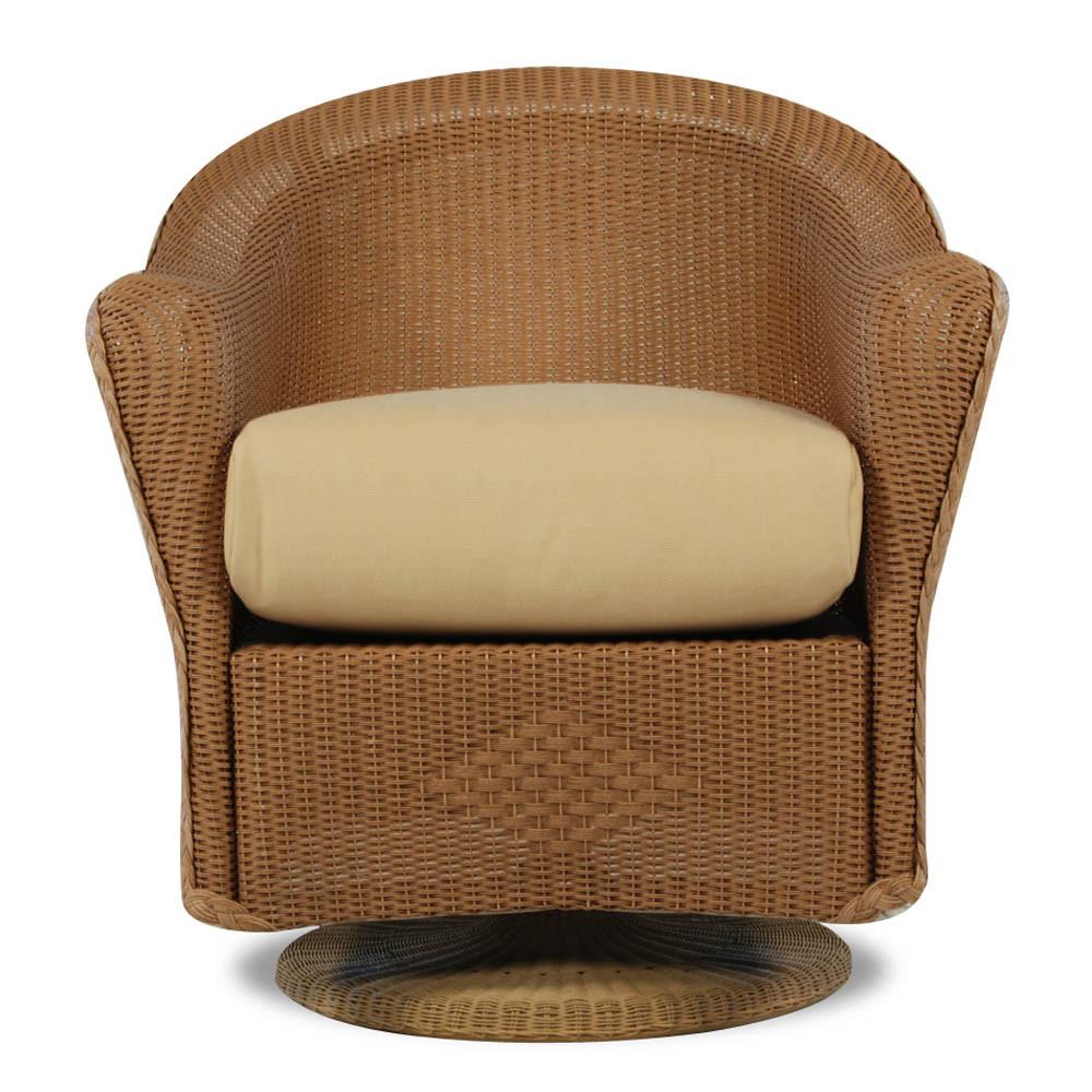 Lloyd Flanders Reflections Wicker Swivel Dining Chair