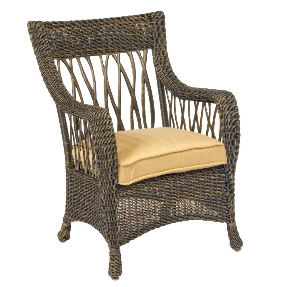 Whitecraft by woodard serengeti wicker dining chair - Replacement cushions for wicker patio furniture ...