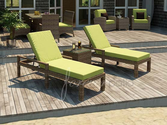 Forever Patio Cypress Wicker Single Adjustable Chaise