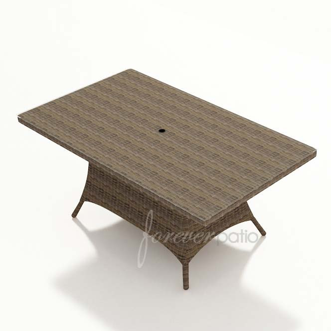 Forever Patio Cypress Wicker 42 X 72 Rectangular Dining