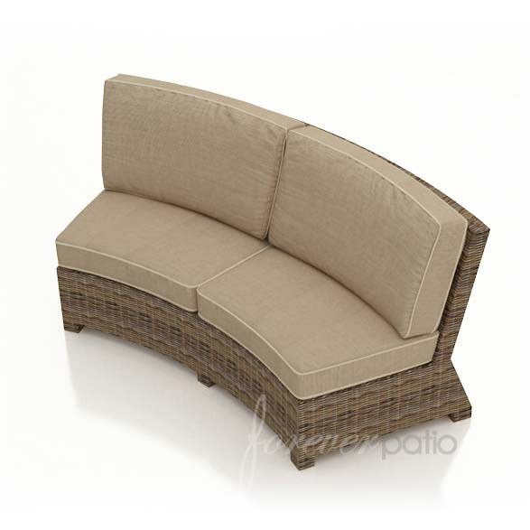 forever patio cypress wicker curved sofa wicker