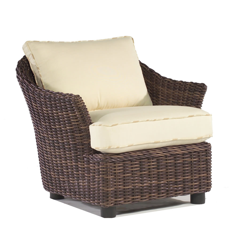 Whitecraft by woodard sonoma wicker lounge chair - Replacement cushions for wicker patio furniture ...