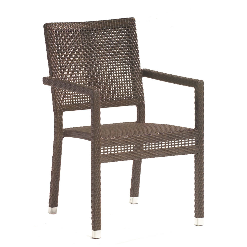Whitecraft By Woodard All Weather Dining Wicker Miami Arm Chair