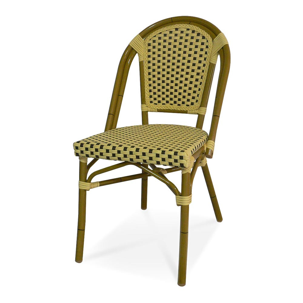 Gentil Source Outdoor Paris Armless Wicker Dining Chair