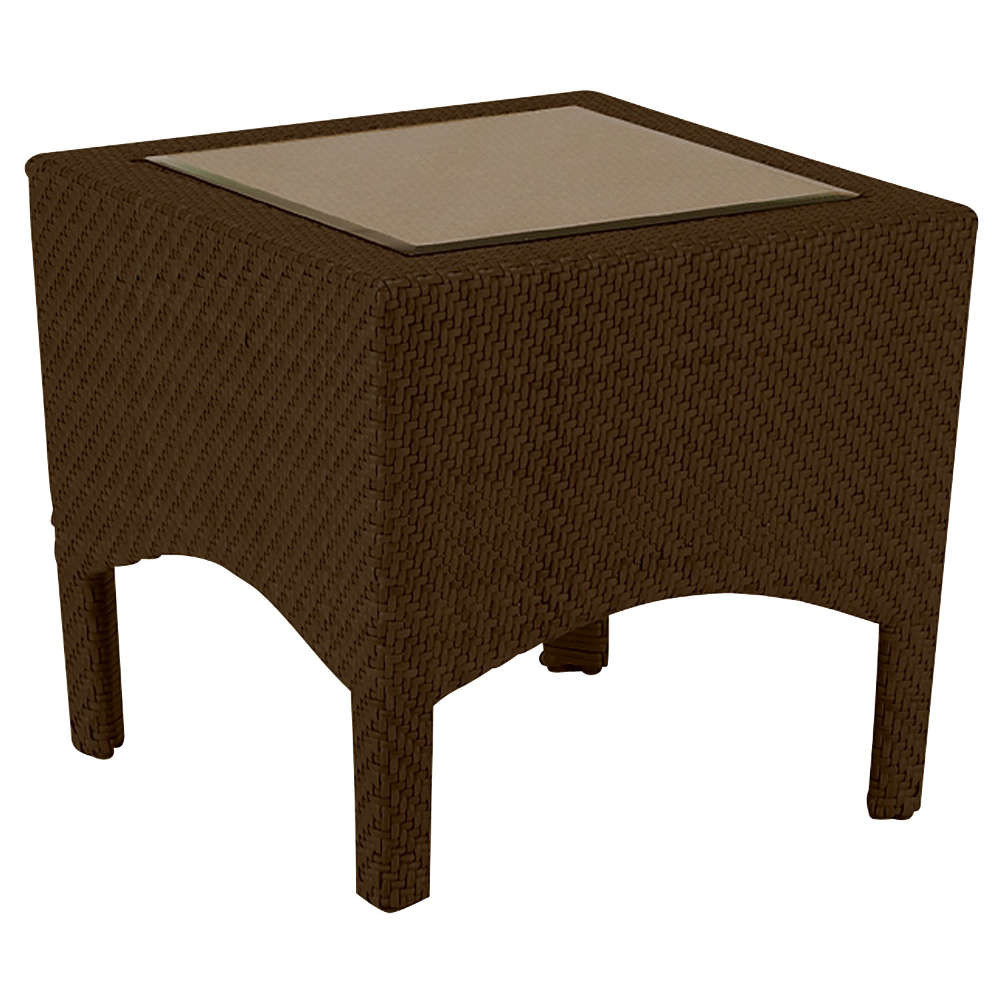 Northcape Patio Furniture Whitecraft by Woodard Trinidad Wicker End Table - Wicker.com