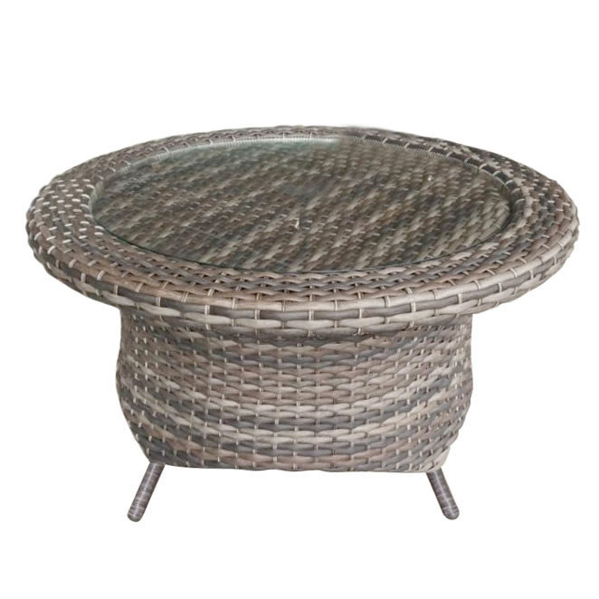 Forever Patio Aberdeen Round Wicker Coffee Table Tables Seating