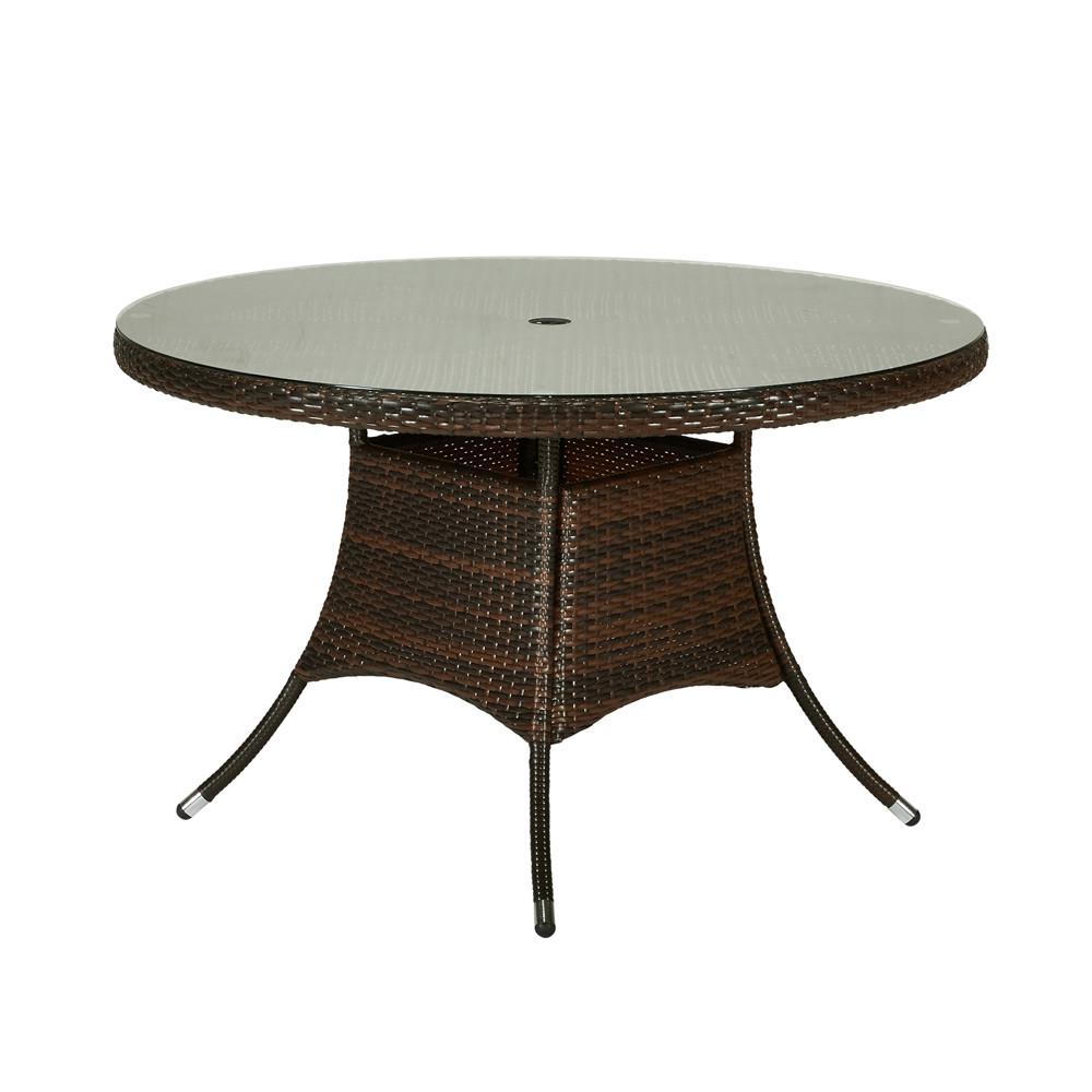 Thy hom gita 6 piece wicker dining set modern wicker for Hom patio furniture