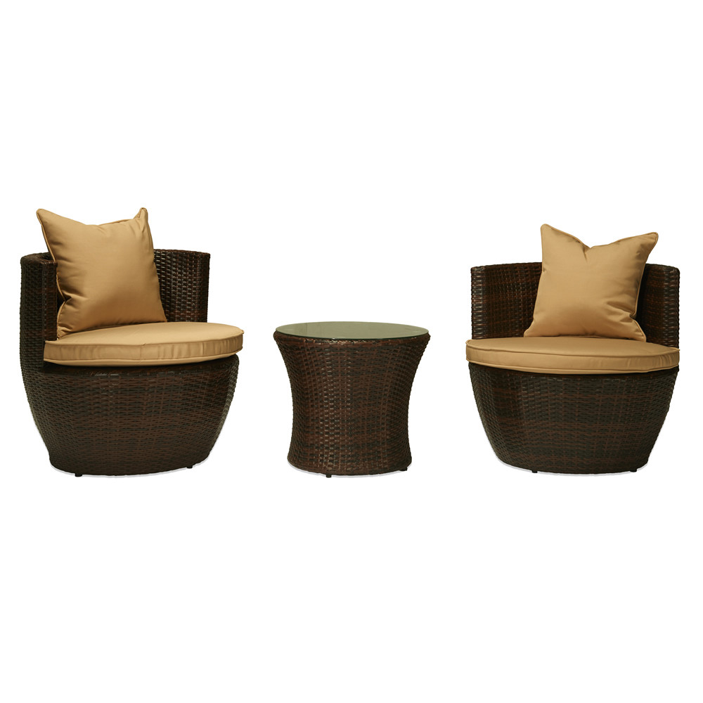 ... The HOM Perry 3 Piece Wicker Chat Set ...