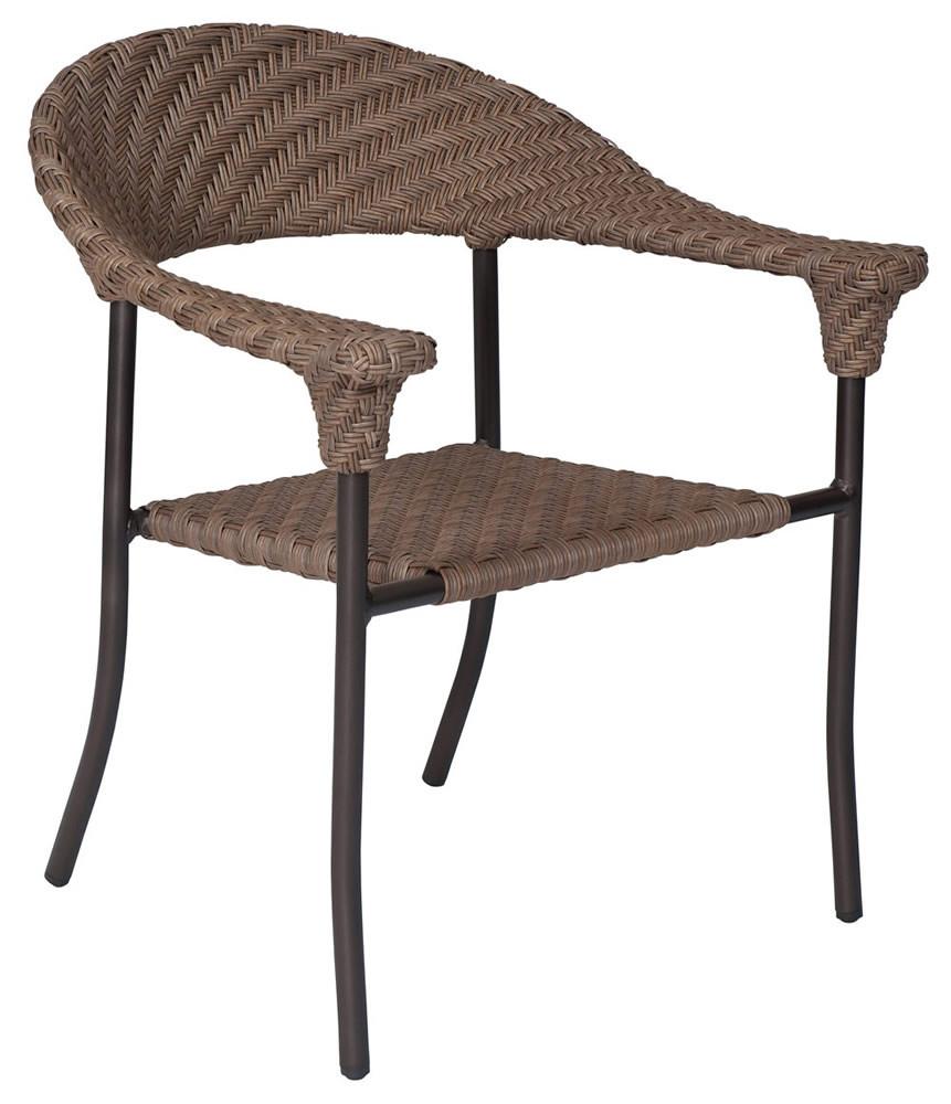 WhiteCraft By Woodard Barlow Wicker Dining Chair