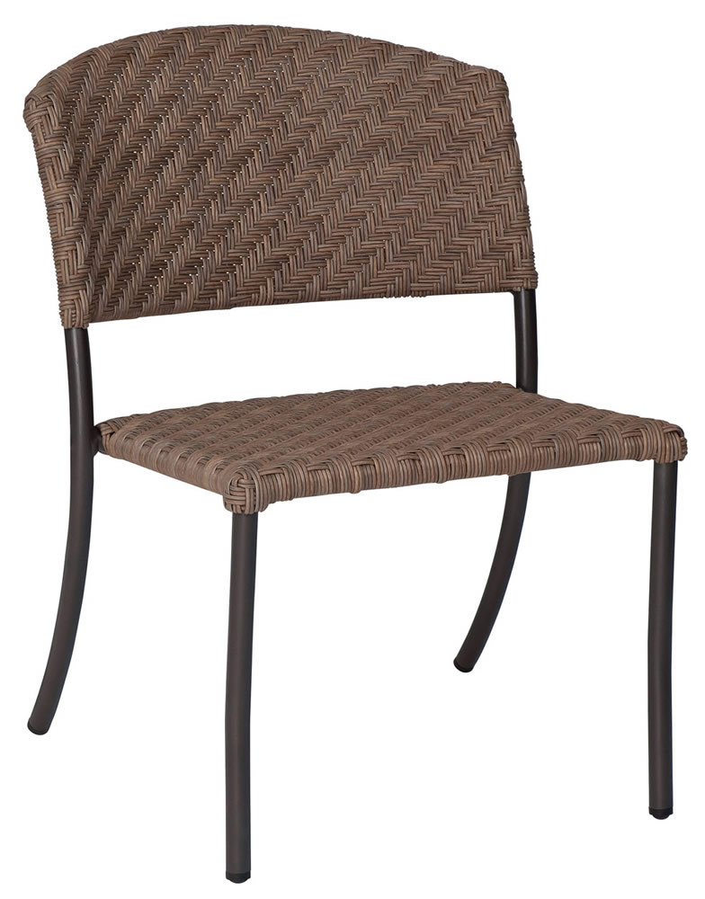 Northcape Patio Furniture WhiteCraft by Woodard Barlow Armless Wicker Dining Chair ...
