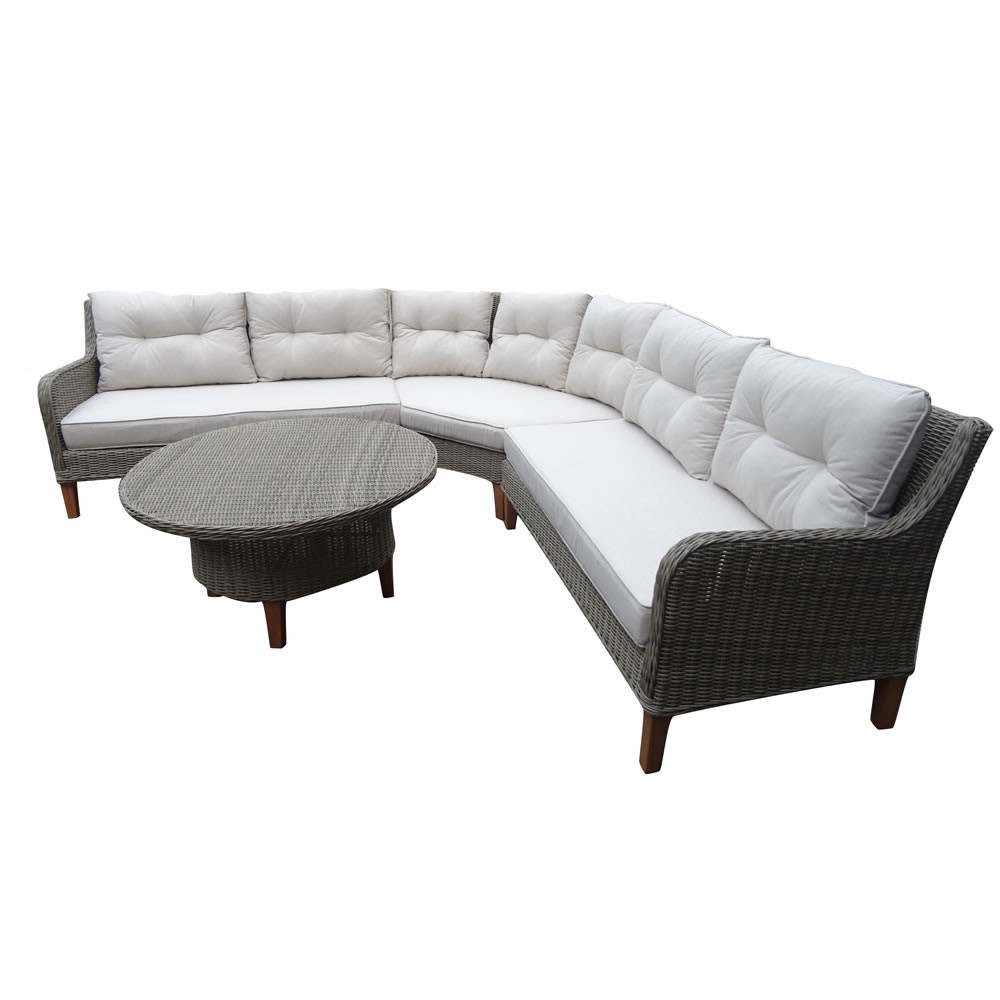 HOM Sorrento 4 Piece Wicker Sectional Set