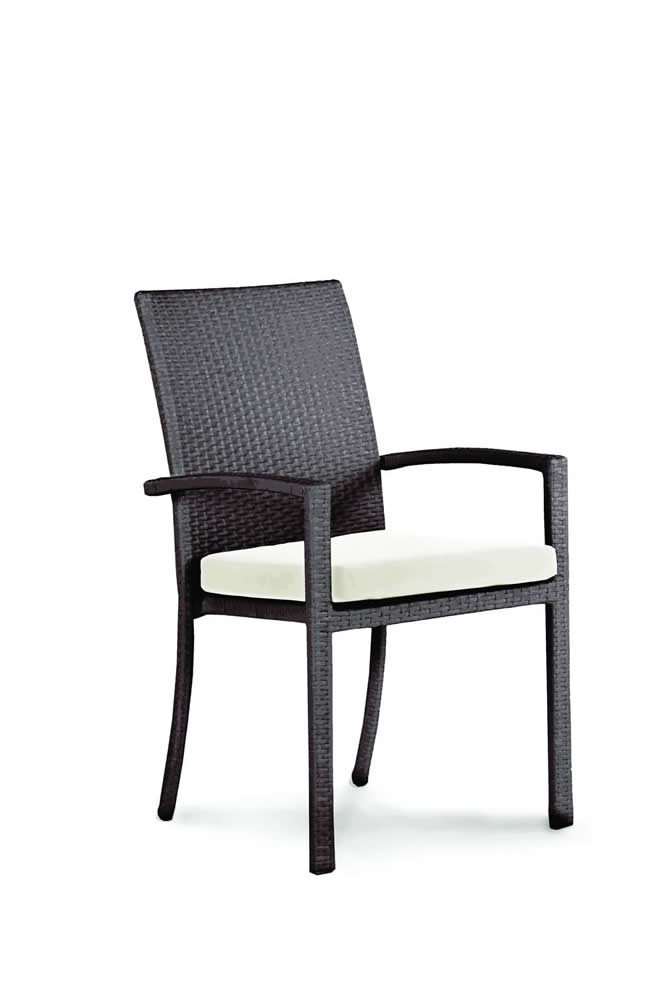 Domus Ventures Brisbane Wicker Stackable Dining Chair