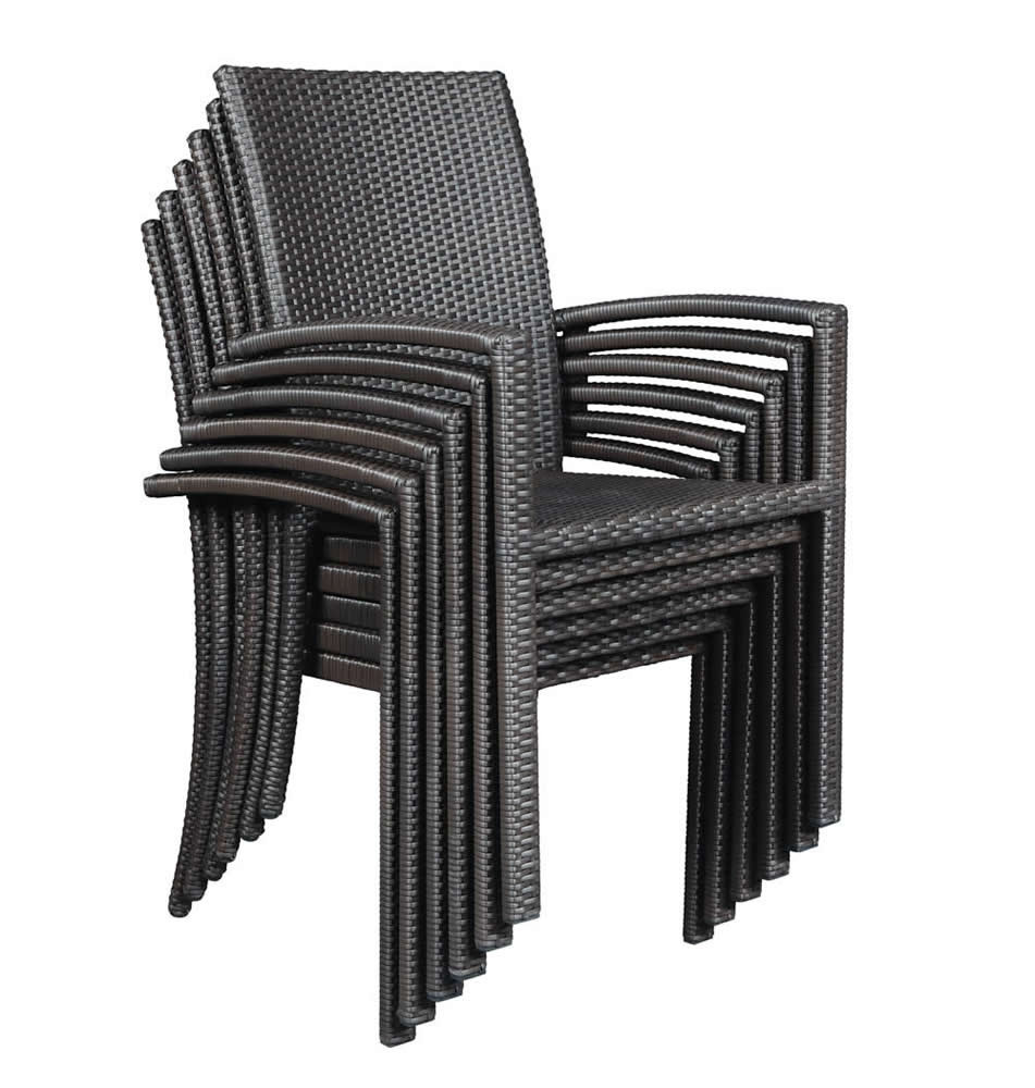 dining room furniture brisbane | Domus Ventures Brisbane Wicker Stackable Dining Chair ...