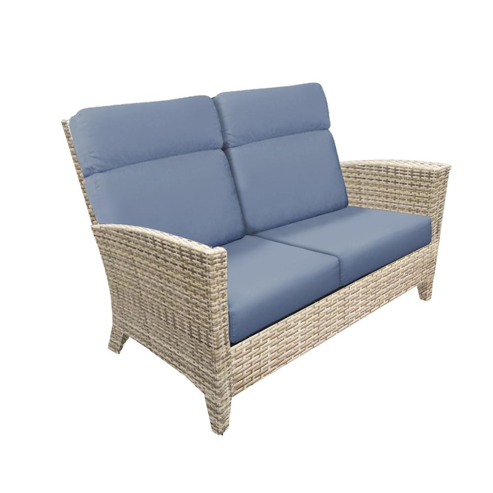 forever patio cavalier wicker loveseat replacement cushion forever patio replacement. Black Bedroom Furniture Sets. Home Design Ideas