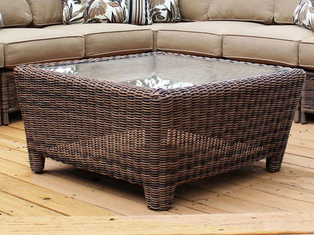 South Sea Rattan Del Ray Wicker Square Coffee Table