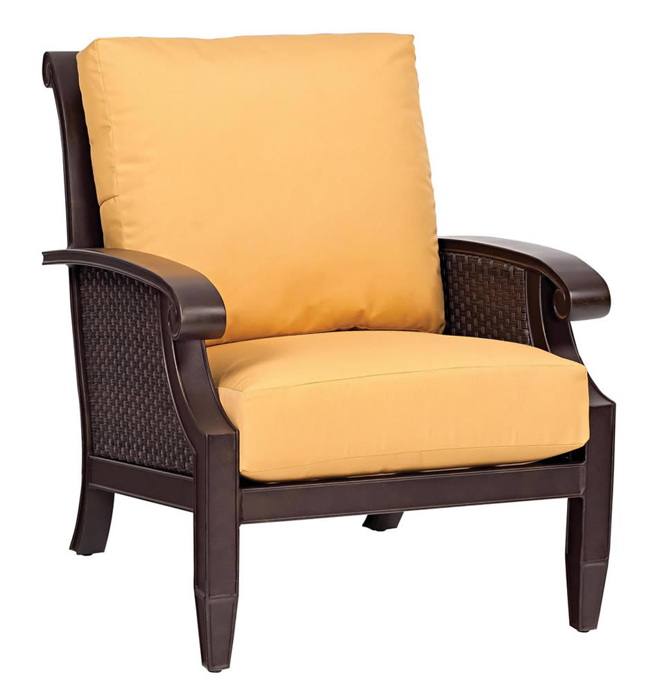 Whitecraft by woodard del cristo wicker lounge chair - Replacement cushions for wicker patio furniture ...