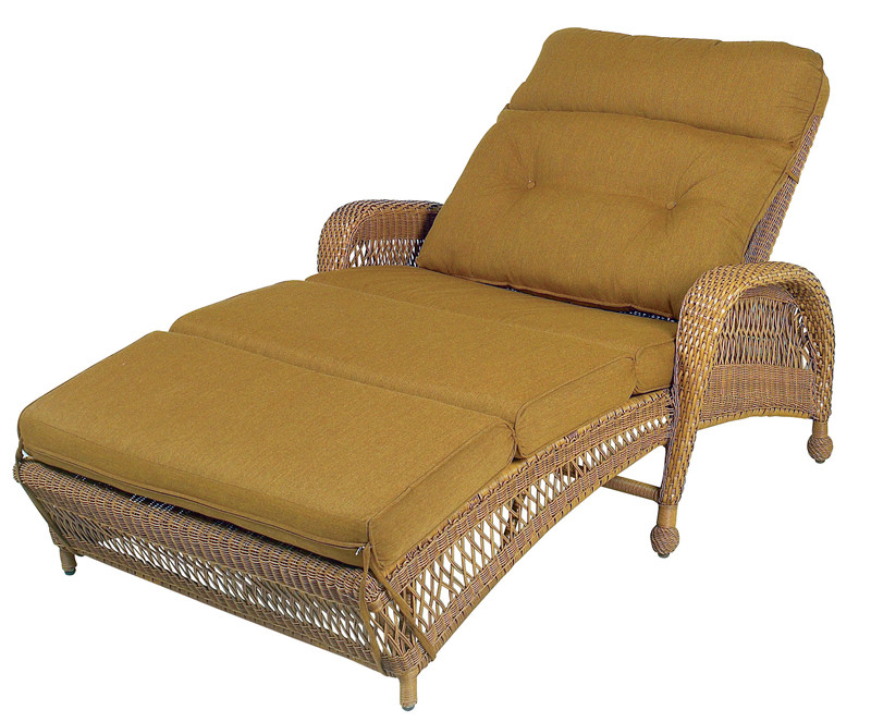 thelma lounge dp mocha amazon rattan outdoor frame chaise com wicker mixed aluminum with