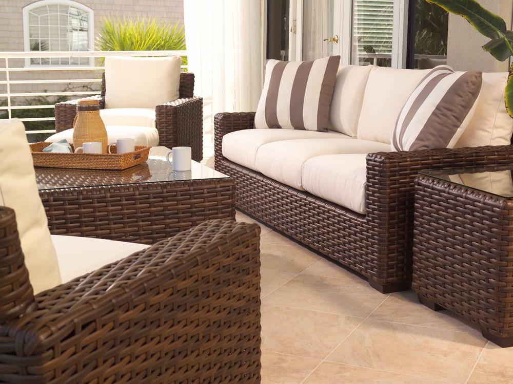 Lloyd flanders contempo wicker 5 piece conversation set - Contempo wicker outdoor furniture ...