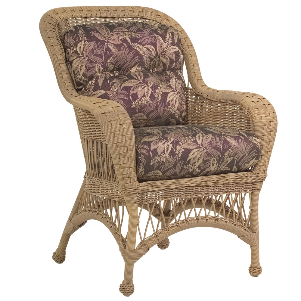 Whitecraft By Woodard Sommerwind Wicker Dining Chair