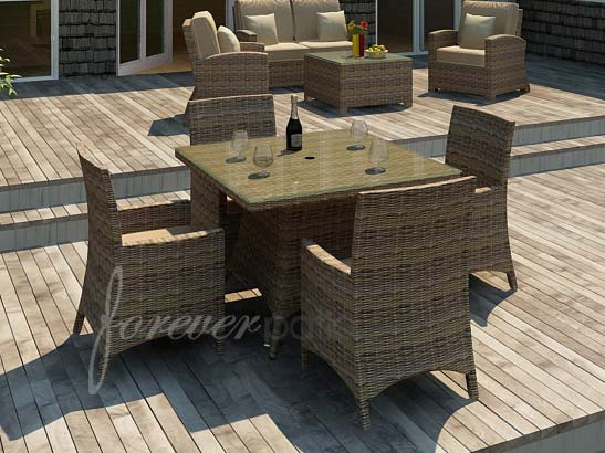 Forever Patio Cypress 5 Piece Square Dining Set Wicker Com