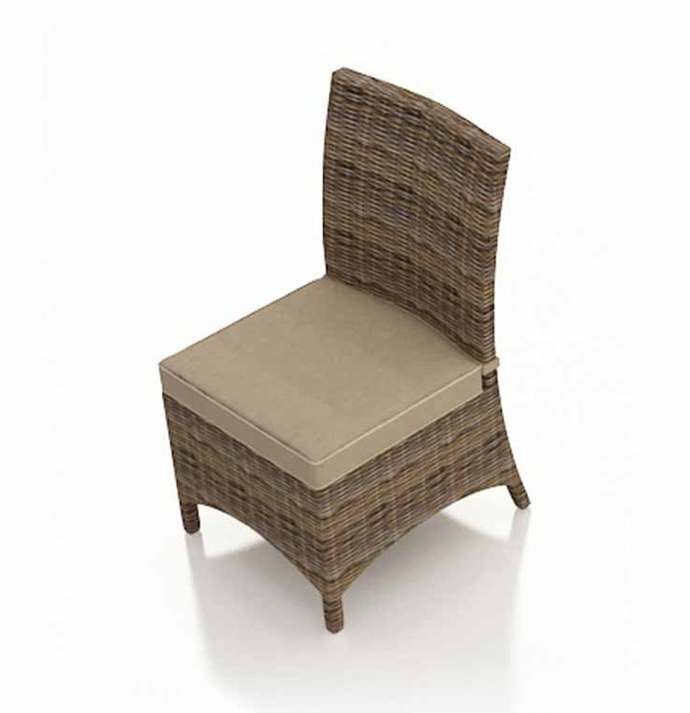 Forever Patio Cypress Wicker Dining Side Chair Replacement Cushion Wicker Com