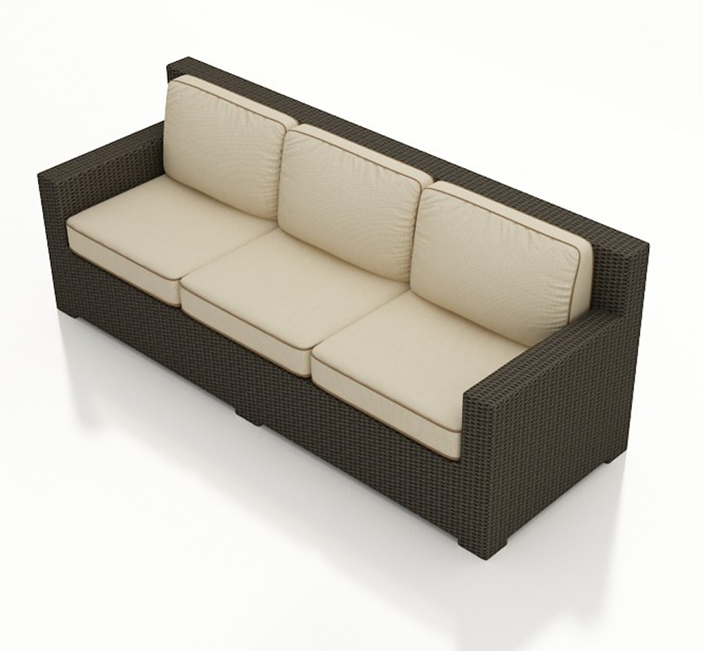 Northcape Patio Furniture Forever Patio Hampton Wicker Sofa - Replacement Cushion ...